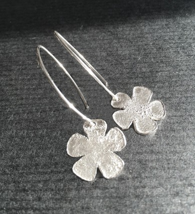Rustic flower earrings