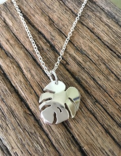 Cheese Plant Leaf Pendant